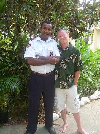BEST WESTERN Hexagon International Hotel, Villas & Spa: josh and the security guard!