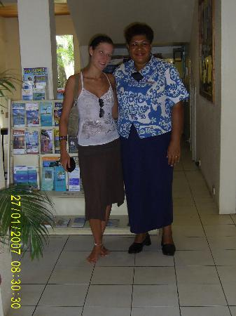 BEST WESTERN Hexagon International Hotel, Villas & Spa: myself and the tour desk lady