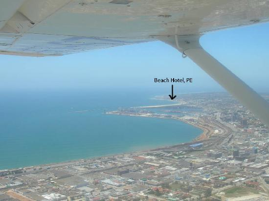 The Beach Hotel: Beach Hotel location, shot from the Cessna we rented at PE airport