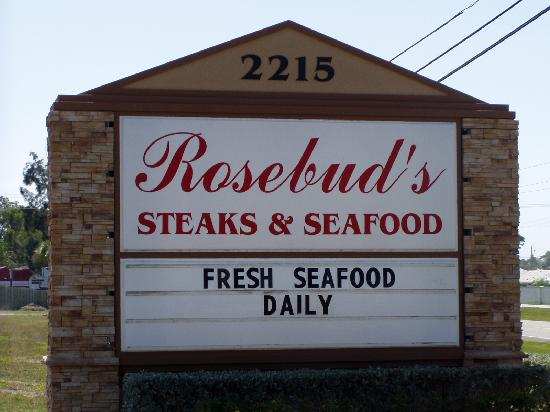Rosebud's: Sign Out Front