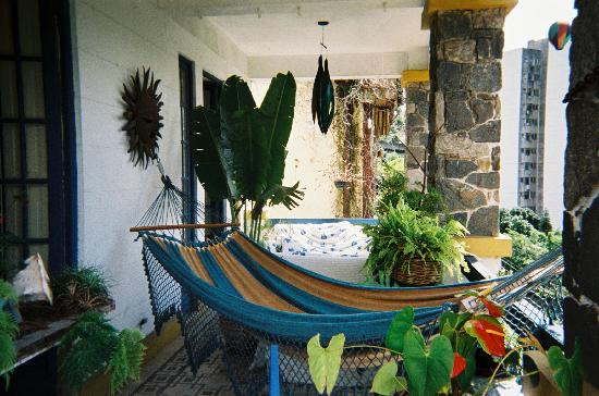 Ananab, Guest house Rio : The little terrace dowstairs