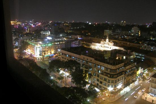 Caravelle Saigon: night view from the 18th floor