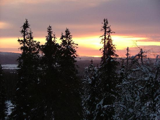 Lapland Hotel Pallas: Beautiful sunset