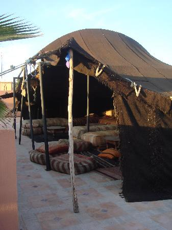 Riad Nabila Berber tent on roof terrace & Berber tent on roof terrace - Picture of Riad Nabila Marrakech ...