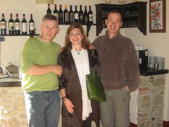 Casa Portagioia: me and the most gracious hosts in Tuscany!