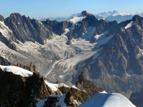 Chamonix, França: Mont Blanc Massif from Aigulle du Midi