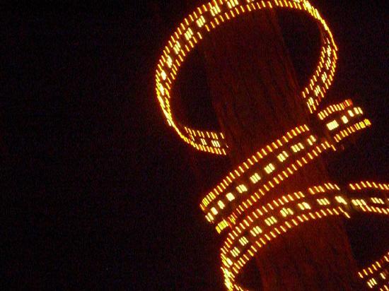 Homestead Log Cabins: Fansity of lights