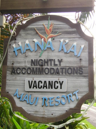 Sign for Hana Kai Maui