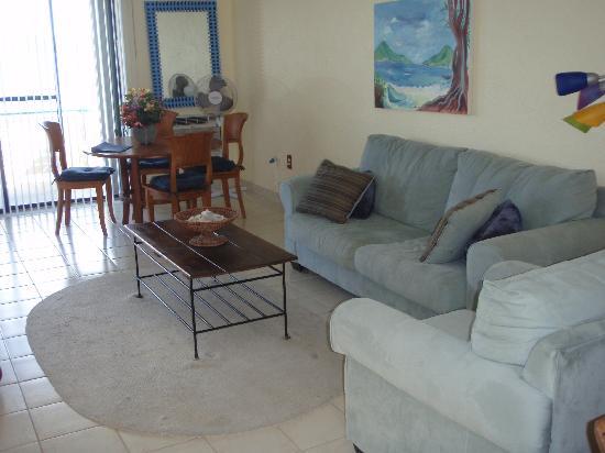Watergate Villas: Condo Living Room