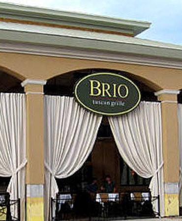 Brio Tuscan Grille: Front view of Brio