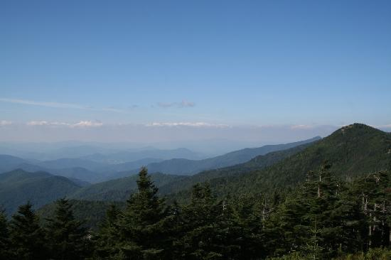 Burnsville, Carolina del Nord: Mt. Mitchell SP- view of the appalachians