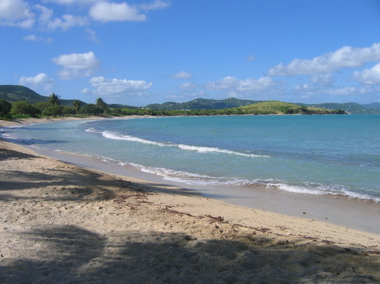 Deserted beach near Christiansted
