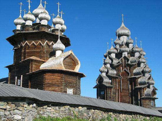 Kizhi Island church built entirely of wood, no nails