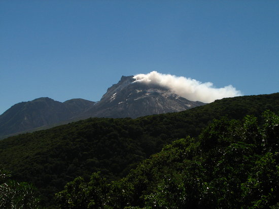 Montserrat: View of the volcano from Jack Boy