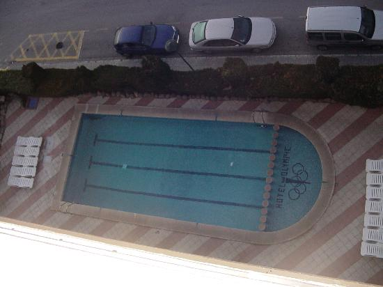 htop olympic aerial view of swimming pool