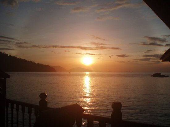 Lumut, Malesia: Sunrise from balcony