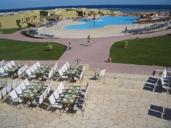 Three Corners Fayrouz Plaza Beach Resort : Terrasse du buffet