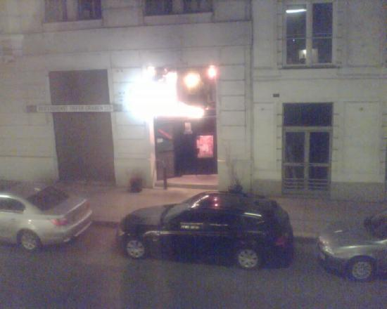Hotel Das Tigra: The bar as seen from my room since the hotel bar doesn't seem to work (no internet there, either