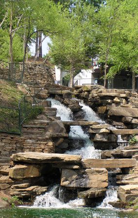 Columbia, SC: Water feature at Finlay