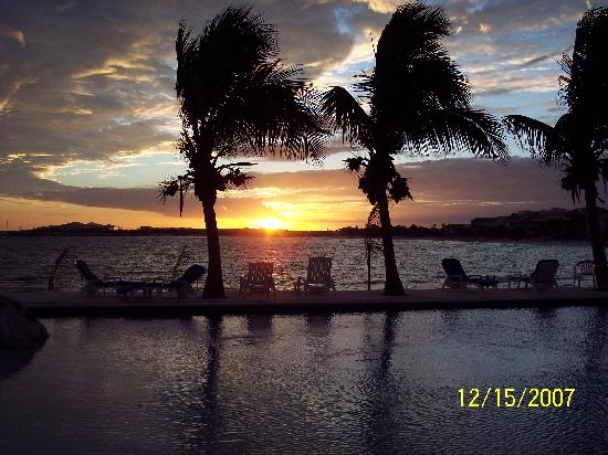 Chac Hal Al Condominiums: Sunset view from our Condo