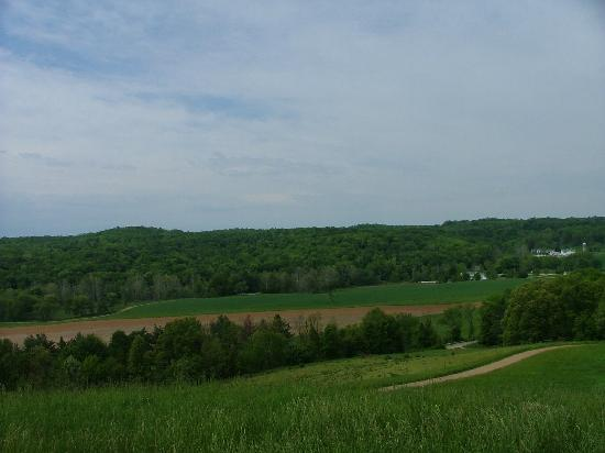 Lucas, Οχάιο: View from Mount Jeez-highest hill in Ohio