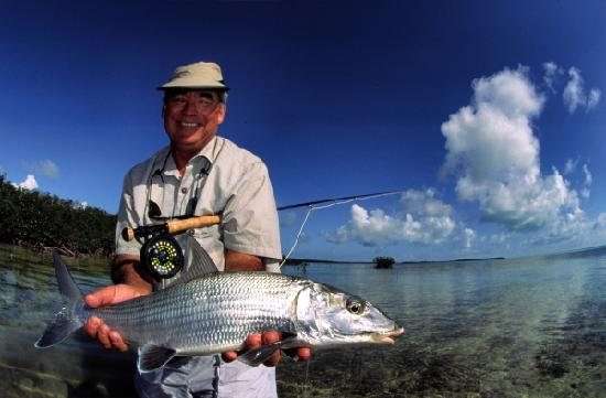 Rickmon Bonefish Lodge : Bonefisherman at Rickmon Lodge
