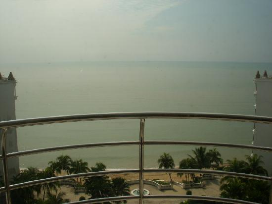 Everly Resort: Straits of Malacca from the room's balcony