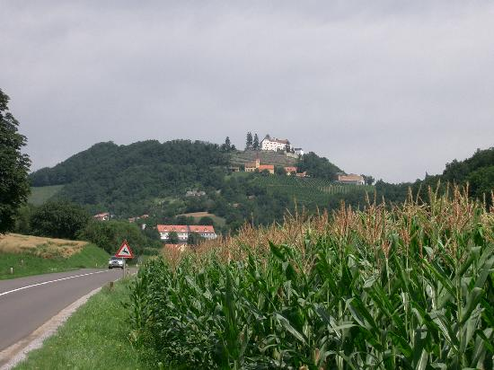 Schloss Kapfenstein : the castle hotel up on the hill