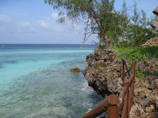 Unguja Lodge: Sea at high tide