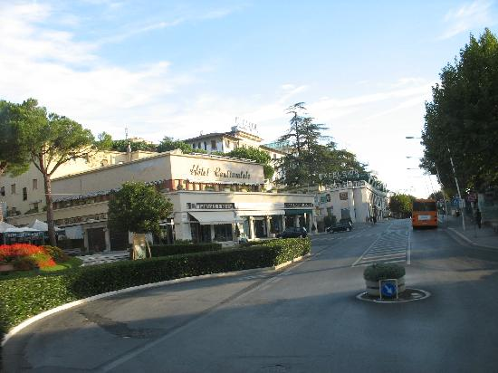 Center of town in Chianciano Terme