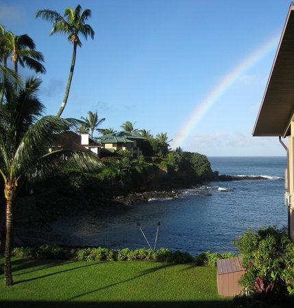 Honokeana Cove Condominiums : Looking out from our lanai after a rain storm.