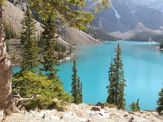 Lago Louise, Canadá: Moraine Lake from above