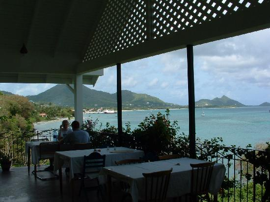 Green Roof Inn: View from the dining terrace.