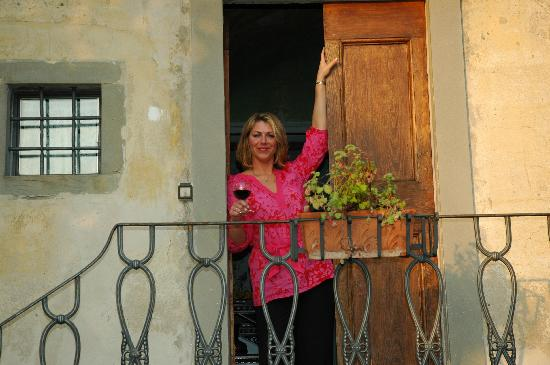 La Limonaia: Relaxing with Chianti after Wine Tour