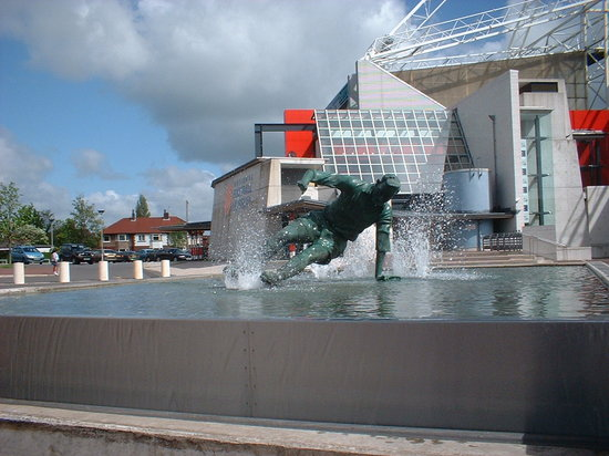 Preston, UK: The statue of Tom Finney