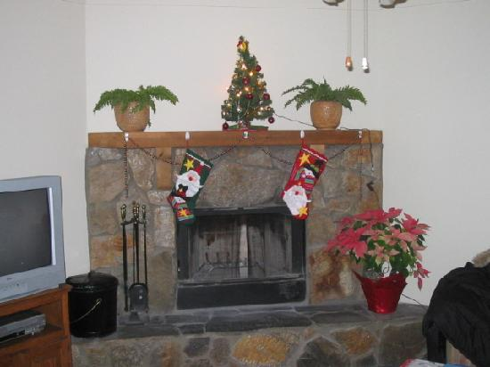Wyndham Resort at Fairfield Sapphire Valley: Fireplace in A unit