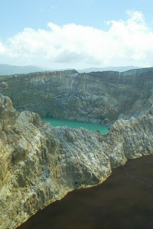 Mount Kelimutu: The Brown and Turquoise Lakes
