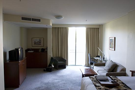 Rydges Capital Hill Canberra: First room, looking out