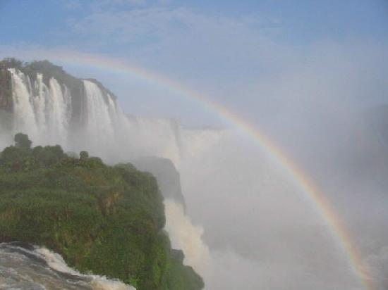 Puerto Iguazu, Argentina: A Rainbow Among The Water Spills
