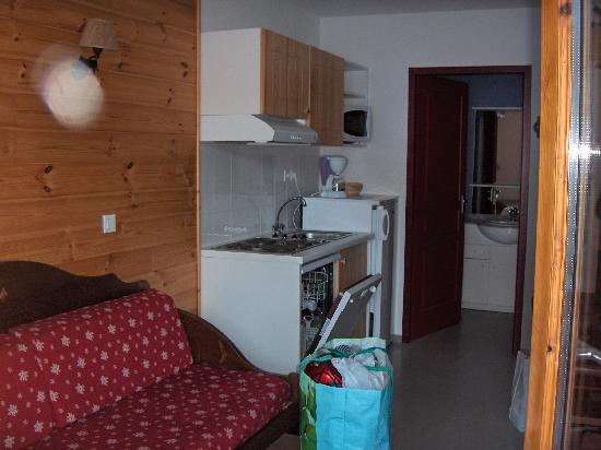 Residence le Palatin: Salon / Cuisine