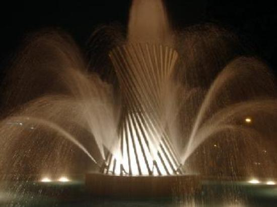 A fountain in Magic Water Circuit park.