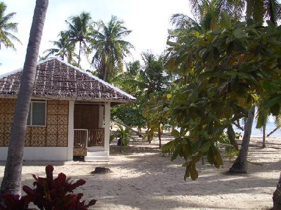 The beachfront bungalows of Dano Beach Resort on Malapascua Island, Philippines