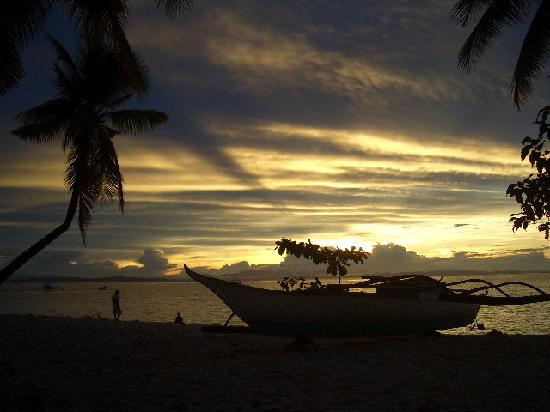 The sunrise from Dano Beach Resort, Malapascua Island is worth waking up early for.