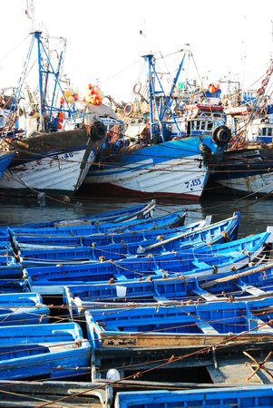 Esauira, Marruecos: Fishing Port where BLUE is very much the colour