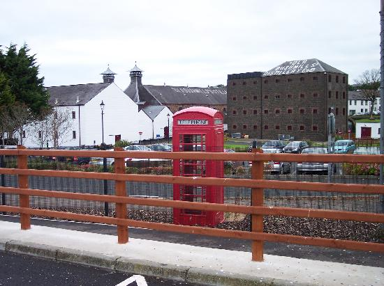 Bushmills Distillery: from the parking lot