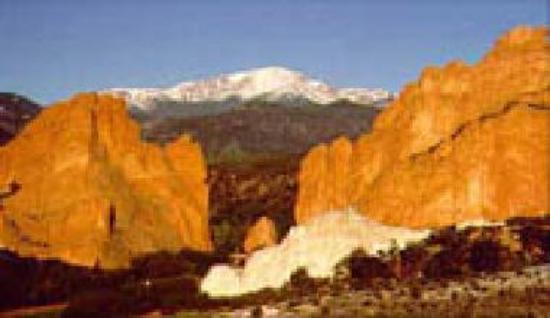 Pikes Peak as seen from Garden of the Gods