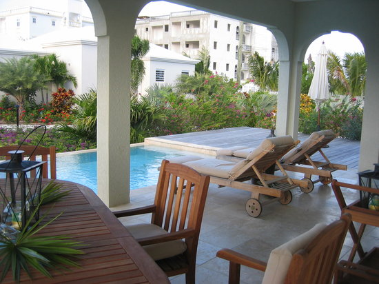 Meads Bay Beach Villas: The patio