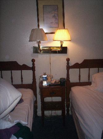 Stratford Motor Lodge : Quaint and comfortable.  My light is not on b/c there is no lightbulb in it!