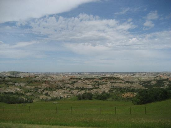 Medora, ND: A view of the Badlands, home of the Maah Daah Hey Trail!