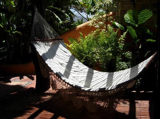 La Quinta Troppo: hammock in the garden room